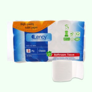 15 cuộn giấy vệ sinh Lency 3 lớp