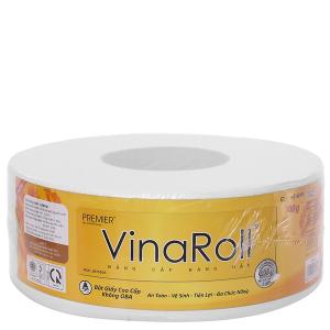 Giấy vệ sinh cuộn lớn PREMIER VinaRoll 2 lớp 700g (10cm x 12cm)