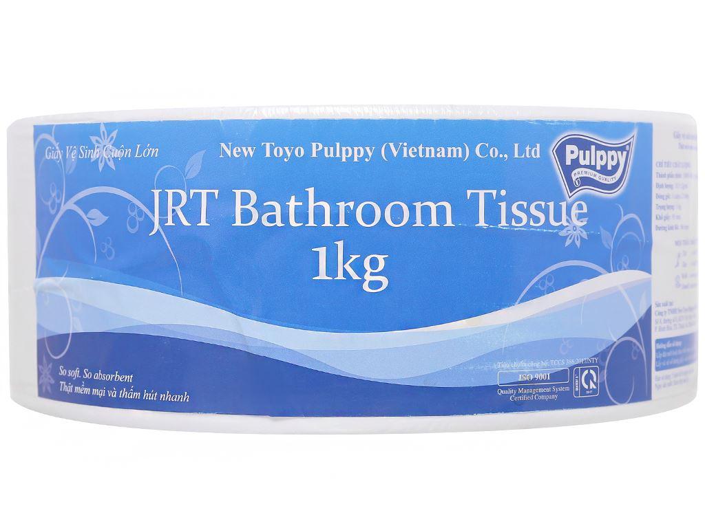 Giấy vệ sinh cuộn lớn Pulppy 2 lớp 1kg 1