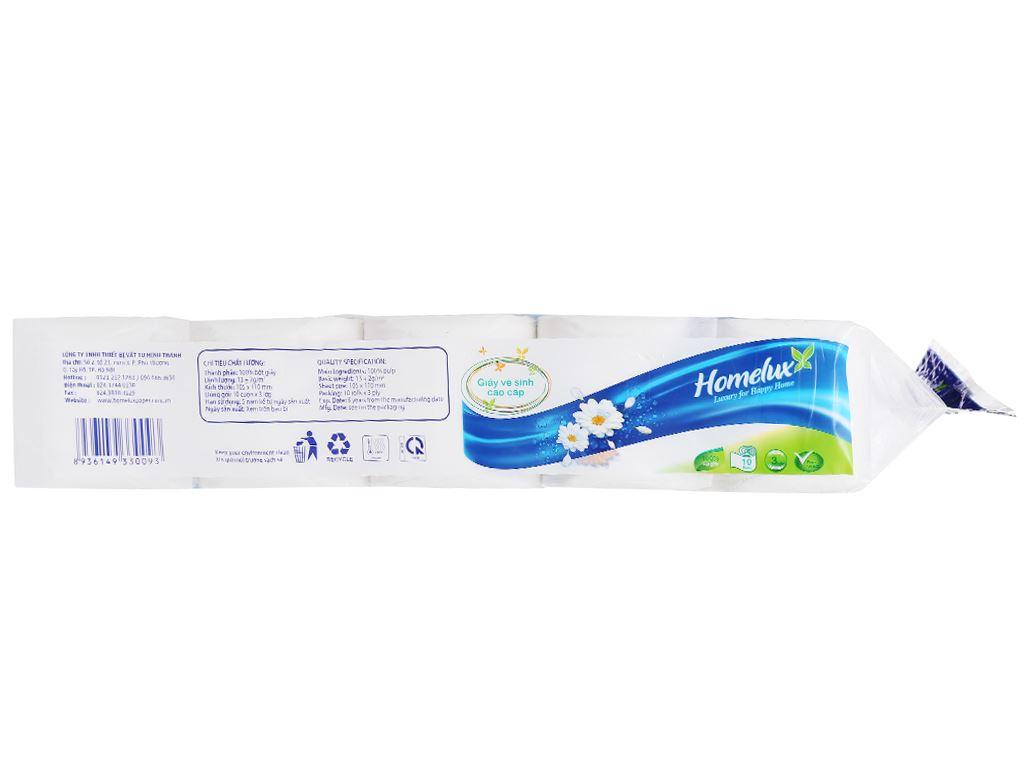 10 cuộn giấy vệ sinh không lõi Homelux 3 lớp 4