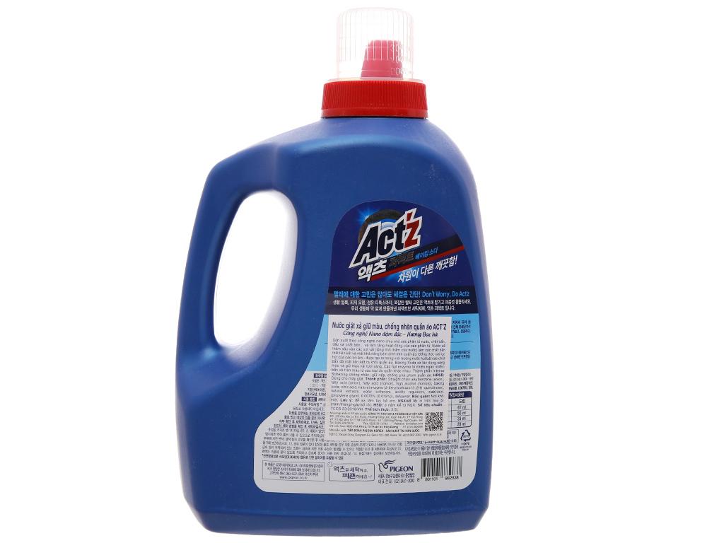 Nước giặt xả Act'z giữ màu và chống nhăn quần áo hương bạc hà chai 3.5 lít 7