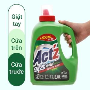 Nước giặt xả Act'z kháng khuẩn hương thảo dược chai nước giặt xả 3.5 lít