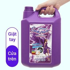 Nước giặt xả Sanzoft đậm đặc hương hoa violet can 5 lít