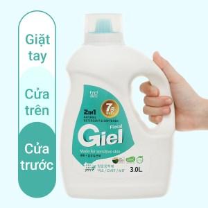 Nước giặt xả hữu cơ sinh học Giel 2 in 1 hương hoa thiên nhiên can 3 lít