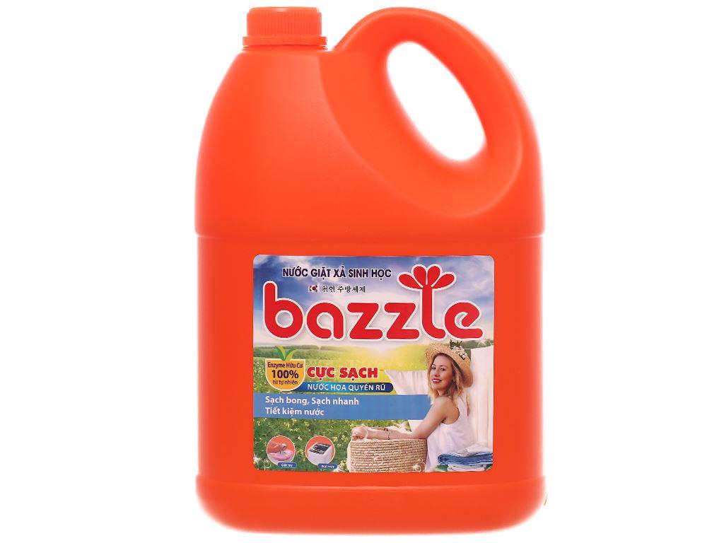 Nước giặt xả sinh học Bazzle hương quyến rũ can 2.9 lít 1