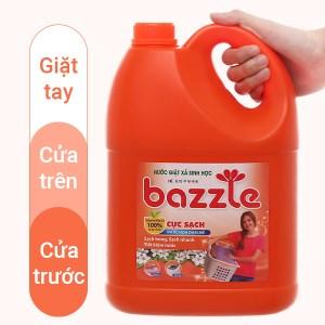 Nước giặt xả sinh học Bazzle hương đam mê can 2.9 lít