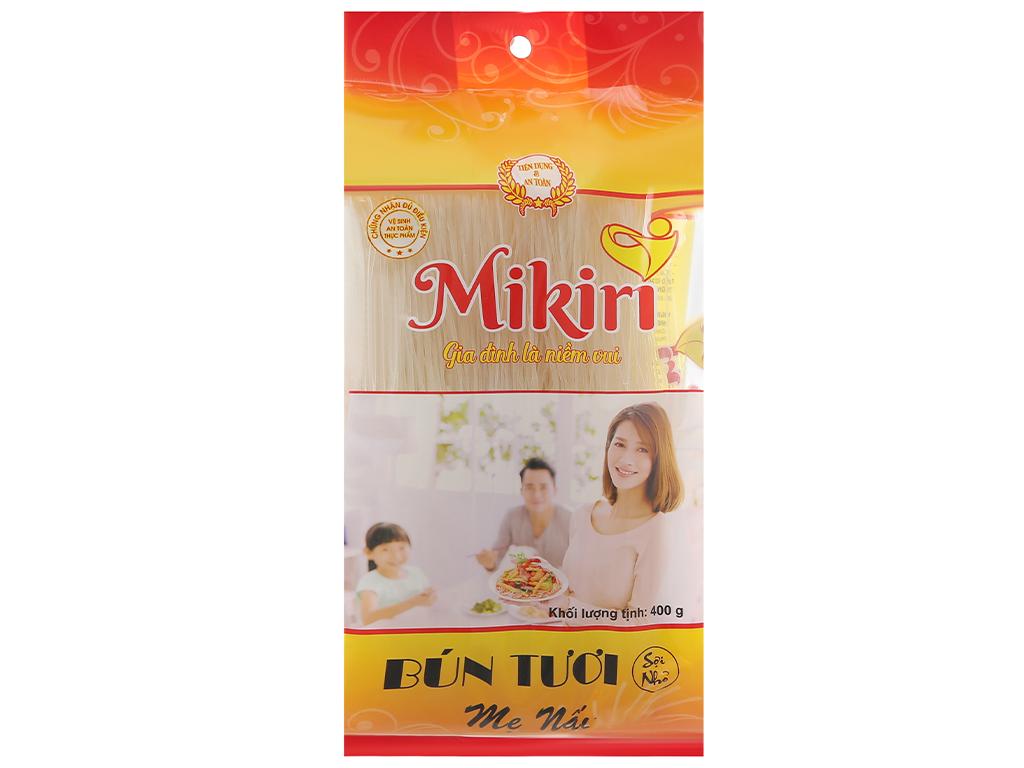 Bún tươi dạng khô sợi nhỏ Mikiri gói 400g 1