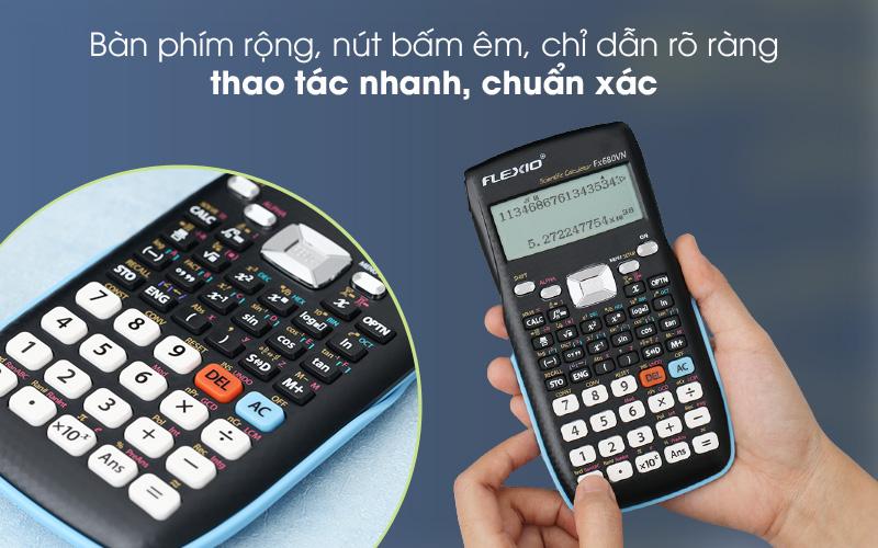 Dễ thao tác - Máy tính khoa học Thiên Long - Flexio FX680VN Xanh