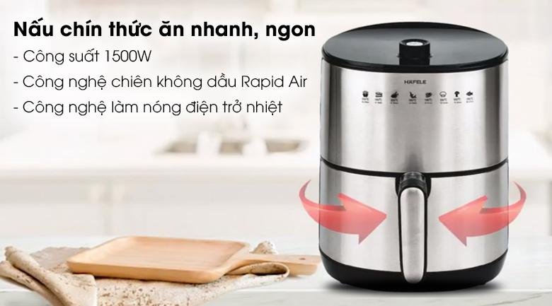 Nồi chiên không dầu Hafele AF-68A 3.2 lít - Nấu thức ăn nhanh chín công nghệ làm nóng điện trở nhiệt cùng công suất 1500W