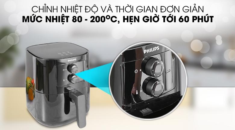 Dễ dùng - Nồi chiên không dầu Philips HD920090 2.4 lít