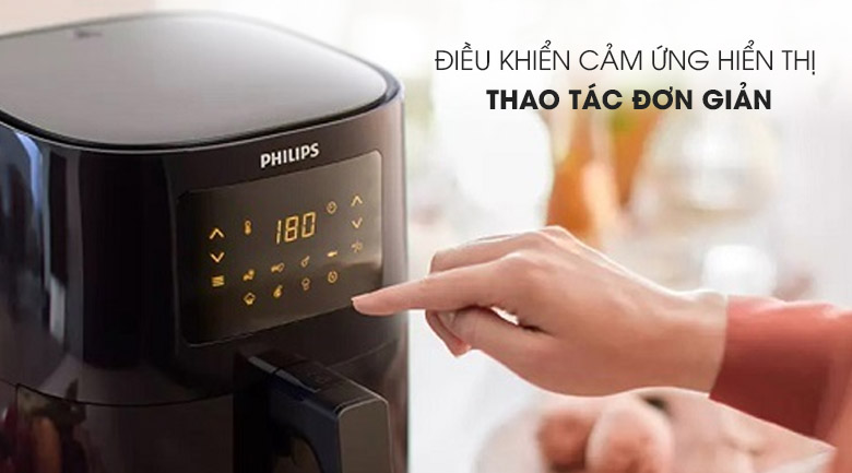 Bảng điều khiển cảm ứng - Nồi chiên không dầu Philips HD9252/90 2.4 lít