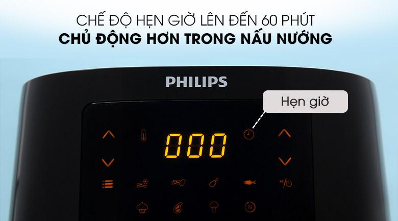 Chế độ hẹn giờ tiện lợi - Nồi chiên không dầu Philips HD9252/90 2.4 lít