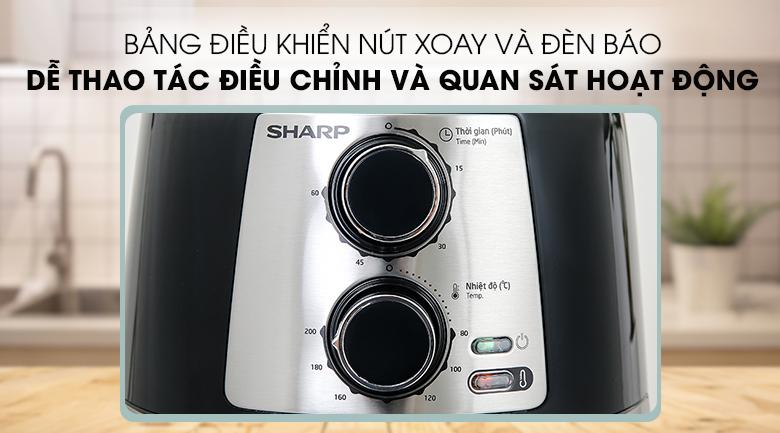 Bảng điều khiển nút xoay Nồi chiên không dầu Sharp KF-AF42MV-ST 4.2 lít