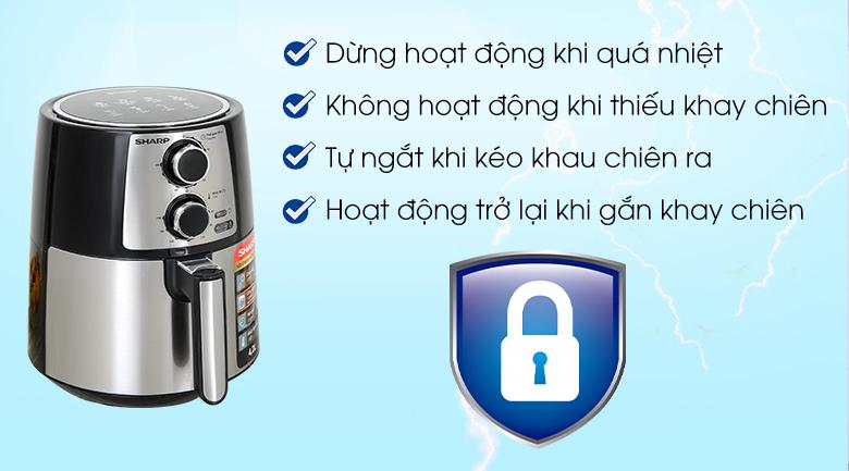 Các chức năng bảo vệ Nồi chiên không dầu Sharp KF-AF42MV-ST 4.2 lít