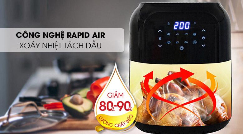 Công nghệ Rapid Air - Nồi chiên không dầu Magic Eco AC-102