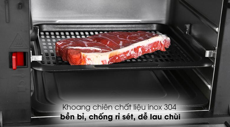 Nồi chiên không dầu Kalite Q10 10 lít - Khoang chiên làm từ chất liệu inox 304