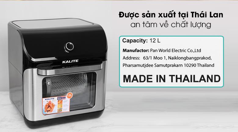 Nồi chiên không dầu Kalite Q12 12 lít - Nồi chiên không dầu Kalite đến từ thương hiệu danh tiếng của nước Úc, được sản xuất tại Thái Lan đảm bảo về chất lượng