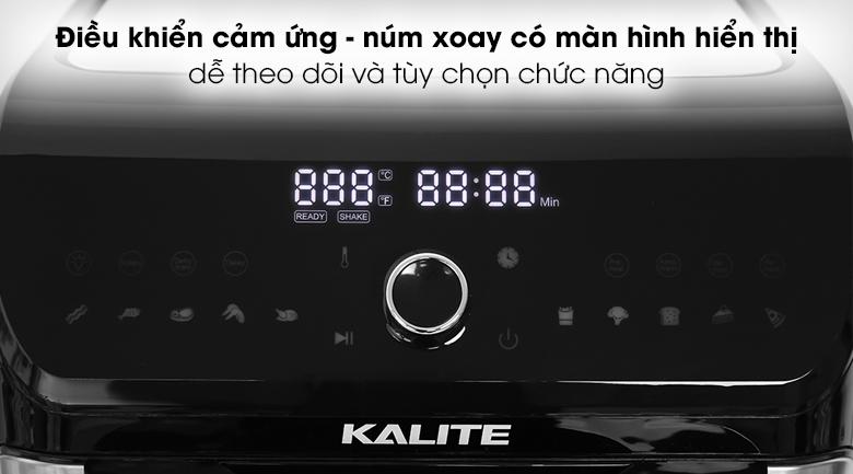 Nồi chiên không dầu Kalite Q12 12 lít - Tích hợp màn hình cảm ứng hiện đại kết hợp nút xoay kèm màn hình hiển thị rõ nét