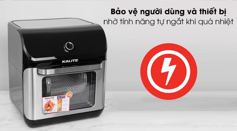 Nồi chiên không dầu Kalite Q12 12 lít - Đảm bảo an toàn khi dùng với tính năng tự ngắt khi quá nhiệt