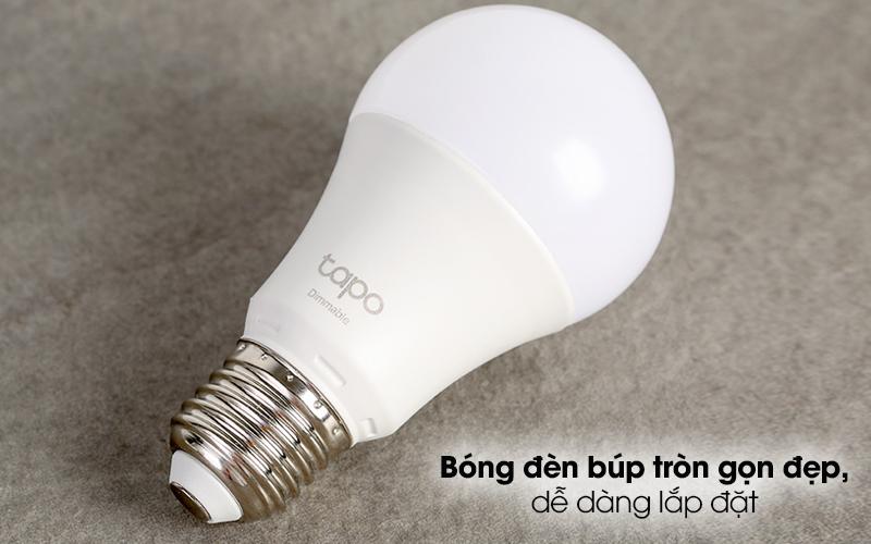 Bóng Đèn Led Thông Minh 8.7W Dimable TP-Link Tapo L510E Trắng - Kiểu bóng đèn búp tròn thân thiện