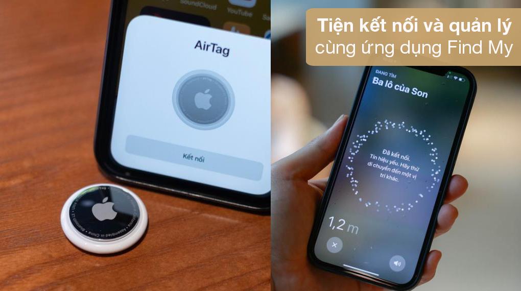 Thiết bị định vị thông minh AirTag 4 Pack MX542 - Tiện kết nối và điều khiển nhờ ứng dụng Find My