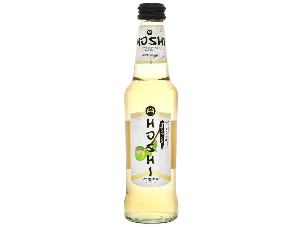 Nước mơ lên men có ga Hoshi Original 4.5% chai 275ml 1