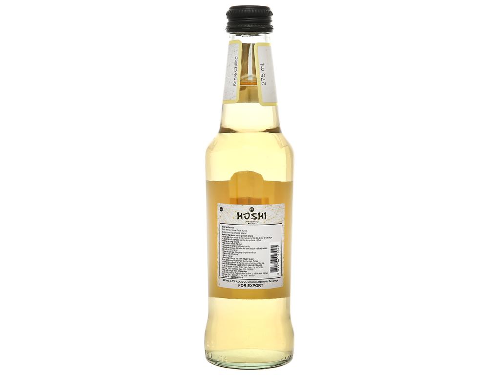 Nước mơ lên men có ga Hoshi Original 4.5% chai 275ml 2