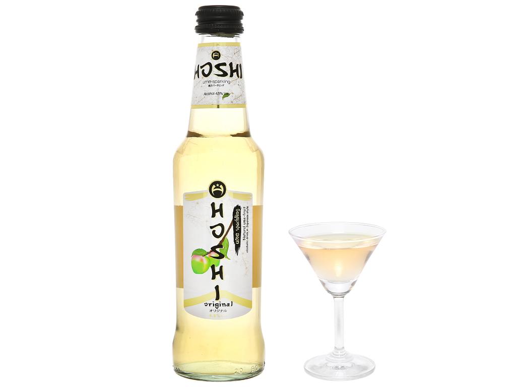 Nước mơ lên men có ga Hoshi Original 4.5% chai 275ml 6