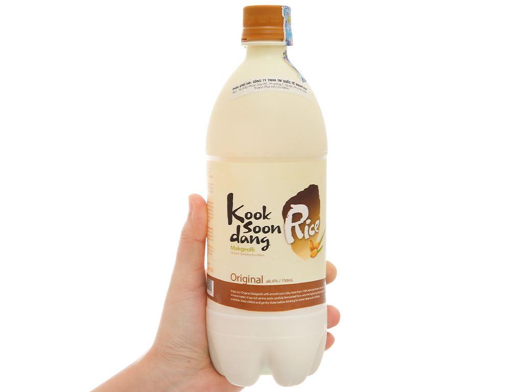 Nước gạo lên men KOOK SOON DANG Makgeolli truyền thống 6% chai 750ml 1