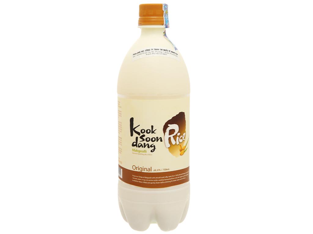 Nước gạo lên men KOOK SOON DANG Makgeolli truyền thống 6% chai 750ml 2