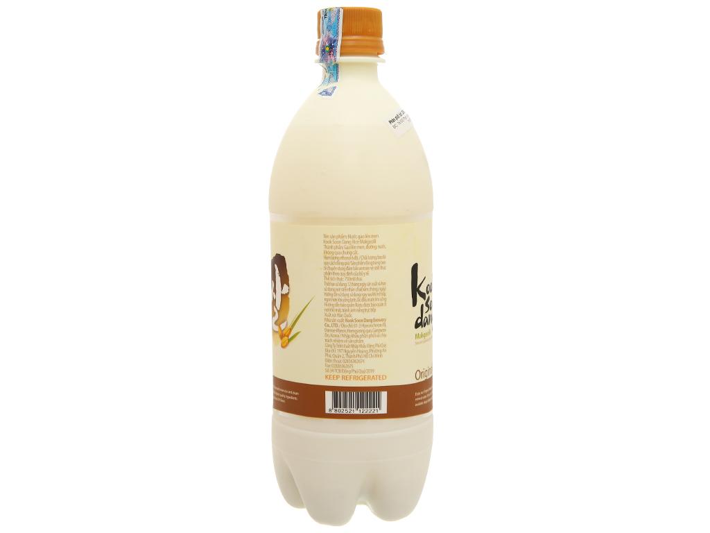 Nước gạo lên men KOOK SOON DANG Makgeolli truyền thống 6% chai 750ml 3