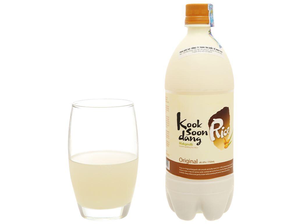 Nước gạo lên men KOOK SOON DANG Makgeolli truyền thống 6% chai 750ml 5