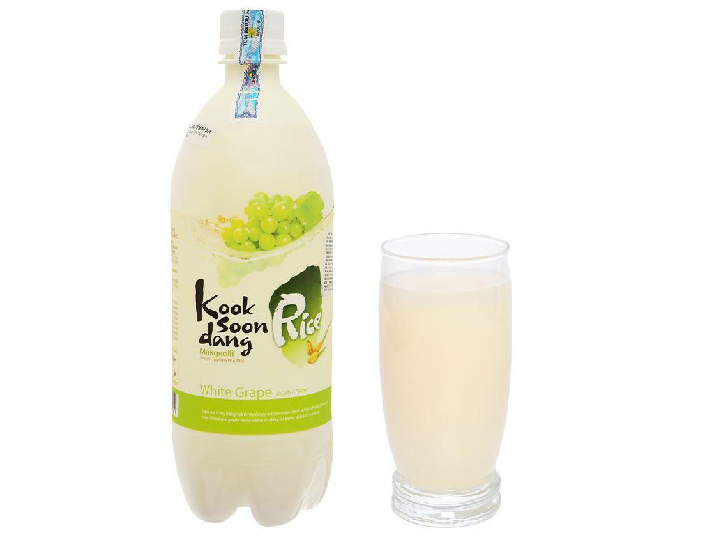Nước gạo lên men KOOK SOON DANG Makgeolli vị nho 3% chai 750ml 7