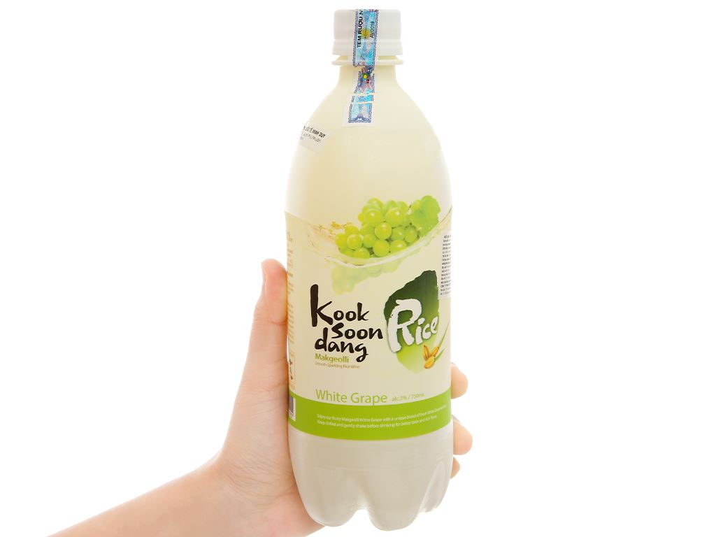 Nước gạo lên men KOOK SOON DANG Makgeolli vị nho 3% chai 750ml 1