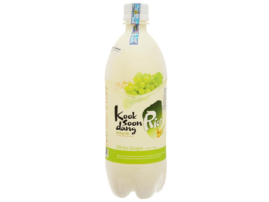 Nước gạo lên men KOOK SOON DANG Makgeolli vị nho 3% chai 750ml 2