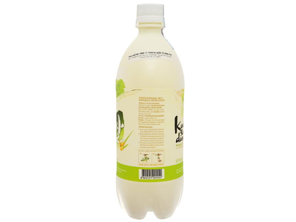 Nước gạo lên men KOOK SOON DANG Makgeolli vị nho 3% chai 750ml 3