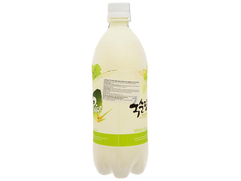 Nước gạo lên men KOOK SOON DANG Makgeolli vị nho 3% chai 750ml 4