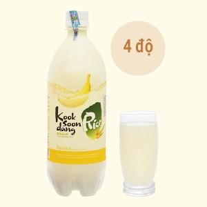 Nước gạo lên men KOOK SOON DANG Makgeolli hương chuối 4% chai