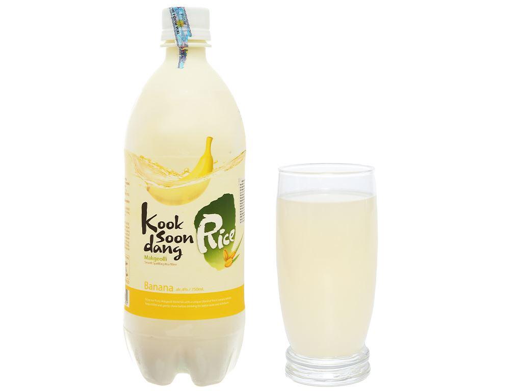 Nước gạo lên men KOOK SOON DANG Makgeolli hương chuối 4% chai 17