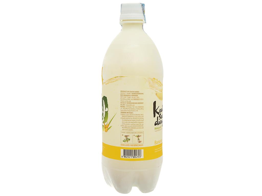 Nước gạo lên men KOOK SOON DANG Makgeolli hương chuối 4% chai 3