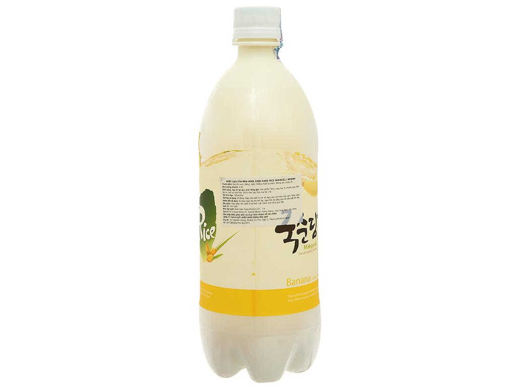Nước gạo lên men KOOK SOON DANG Makgeolli hương chuối 4% chai 4