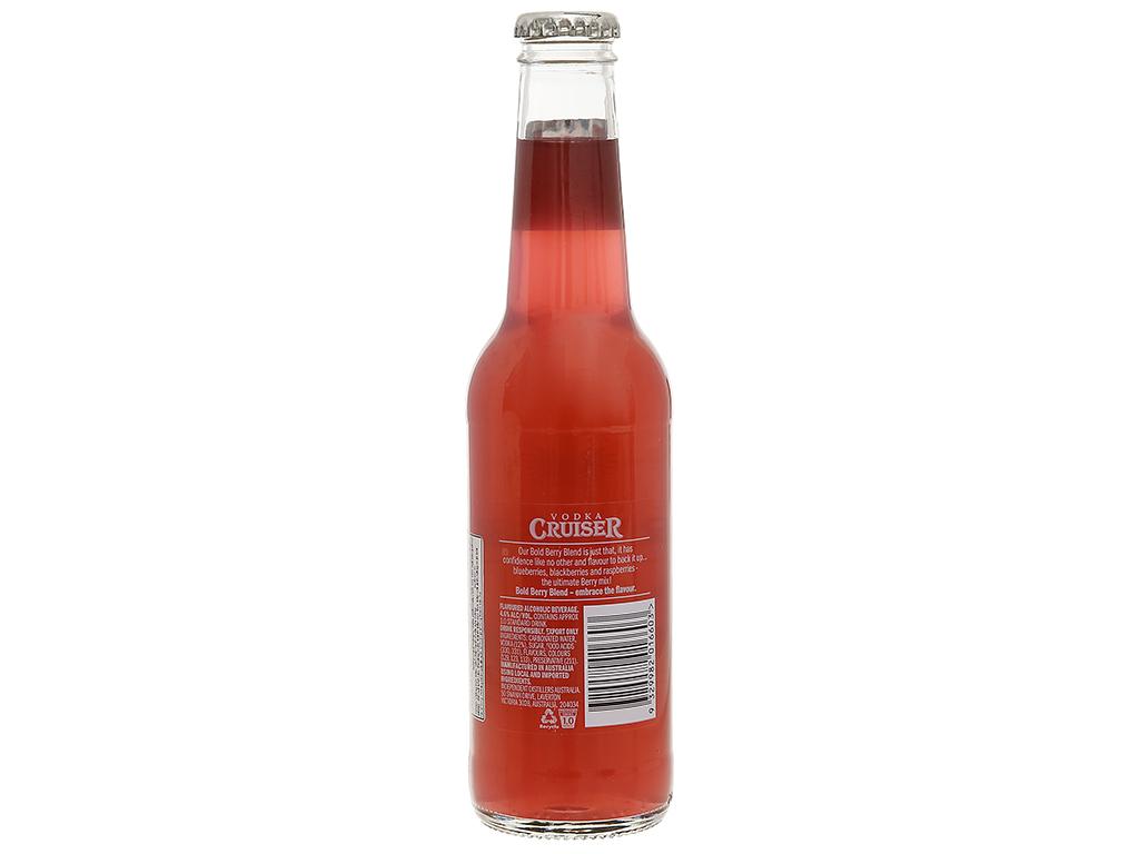 Rượu Vodka Cruiser Bold Berry Blend 4.6% 275ml 2