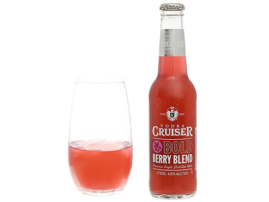 Rượu Vodka Cruiser Bold Berry Blend 4.6% 275ml 5