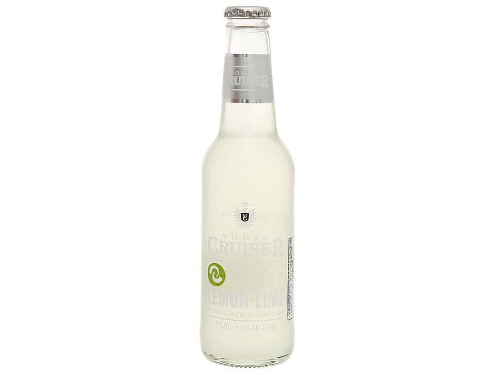 Rượu Vodka Cruiser Zesty Lemon-Lime 4.6% chai 275ml 2