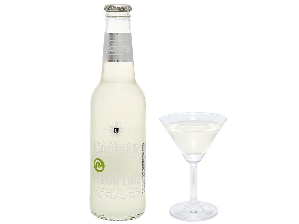 Rượu Vodka Cruiser Zesty Lemon-Lime 4.6% chai 275ml 5