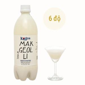 Rượu gạo Korice Makgeolli 6% chai 750ml
