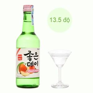 Rượu soju Good Day vị đào 13.5% chai 360ml