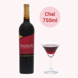 Rượu vang đỏ Passion Shiraz 13% 750ml