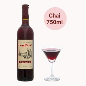 Rượu Vang Đà Lạt Export 12% 750ml