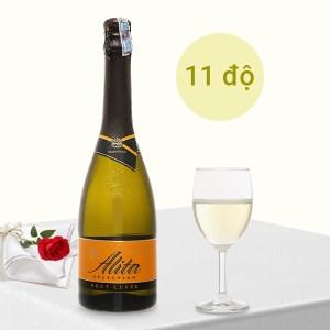 Rượu vang Alita Selection Brut Cuvee Sparkling vị nho 11% 750ml